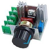 OcioDual Regulador del Voltaje 2000W 220V 10A PWM AC Controlador de Potencia Ajustable Motor Ventilador Temperatura Tensión