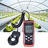 【𝐒𝐞𝐦𝐚𝐧𝐚 𝐒𝐚𝐧𝐭𝐚】 Medidor de luz de iluminancia Digital, medidor de Mano de Alta precisión Lux Medidor de luz fotómetro...