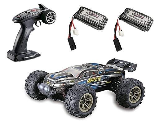 MODELTRONIC Coche Radio Control teledirigido Monster 4x4 Truggy XLH Spirit 9136 Escala 1/16 Eléctrico 2.4G / Velocidad de 40km/h / 2X Batería Recargable Coche RC XINLEHONG Azul