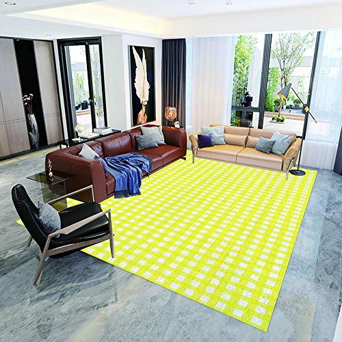 Voetmat, tapijt voor kinderen, honden, cartoon dodles met verschillende posities, permanent design, fitnessmat, badmat, 90 × 120 cm