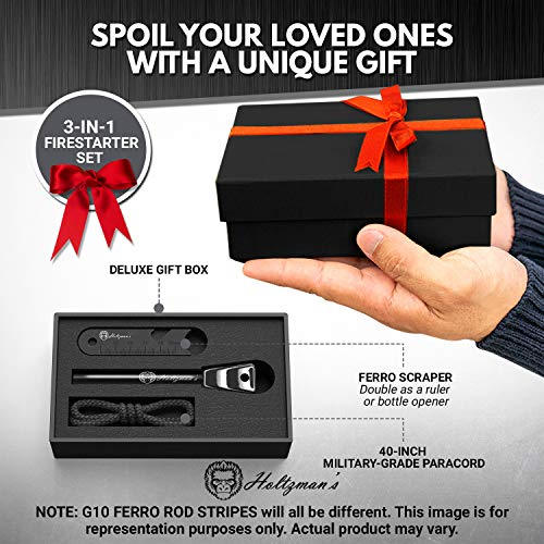 Premium Ferro Rod Fire Starter Kit