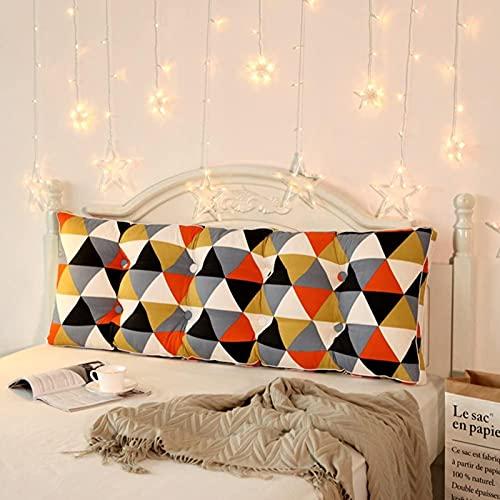 JYHQ Almohada de lectura para sofá cama suave rollo Tatami Colchonetas largas cojín triangular cuña grande cojín lumbar de oficina en casa con cubierta extraíble - D 71 x 20 pulgadas (180 x 50 cm)