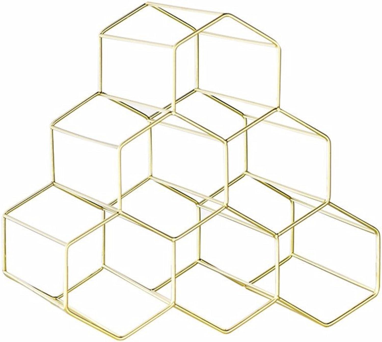 nueva gama alta exclusiva Amadoierly Estante de Vino decoración metálica metálica metálica estantería Creativa Home Salón Display Rack,una Simple  promocionales de incentivo
