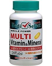 メディセレクト スポーツ マルチビタミン&ミネラル 240粒 クエン酸配合のキレート作用
