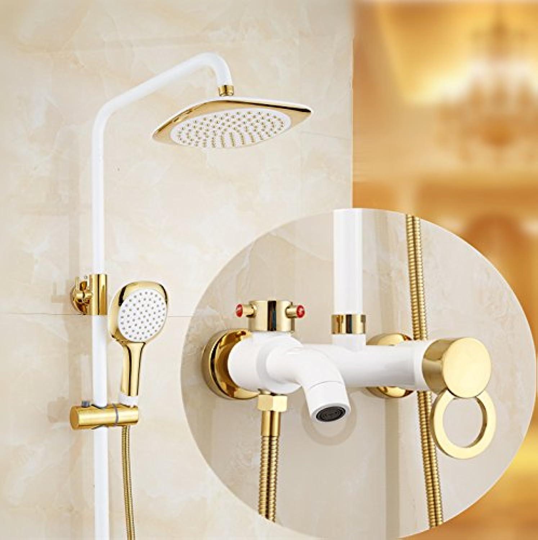 Bijjaladeva Wasserhahn Bad Wasserfall Mischbatterie Waschbecken WaschtischDusche Set Home Wand Dusche Wasserhahn Mischen von heiem und kaltem Wasser Duschen Armaturen H