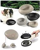 FUTTERSCHEUNE Napf STONE anthrazit mit Sand befüllbar für Hunde und Katzen 0,6l