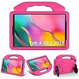 KATUMO Funda para niños para Samsung Galaxy Tab A 10.1 '(2019) SM-T510 / T515, Soporte Plegable a Prueba de Golpes EVA Funda Protectora Ligera para Tableta para Galaxy Tab A 10.1 Pulgadas ,Rosa roja