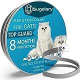 Sugelary Collar Antiparasitario para Mascotas Gatos, Protección de 8 Meses, Tamaño Ajustable e Impermeable, Mejorado con Aceites Esenciales Naturales (1pcs)