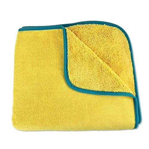 Norwex Kids Towel - Yellow with Teal Trim