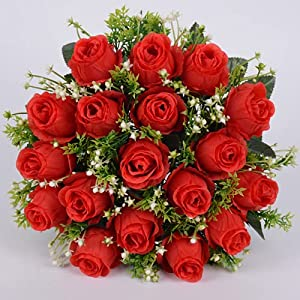 Artificial Flowers for Cemetery, Memorial Flowers, Suitable for Cemetery Flower Arrangements, Indoor and Outdoor Flower Decoration (1)