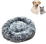 Pejoye Cama para Perros, Perro Gato Mascota Colchón Lavable Almohada Cojín Suave y Cálida Cama de Algodón PP con Parte Inferior Antideslizante Extremadamente Suave y Cómoda