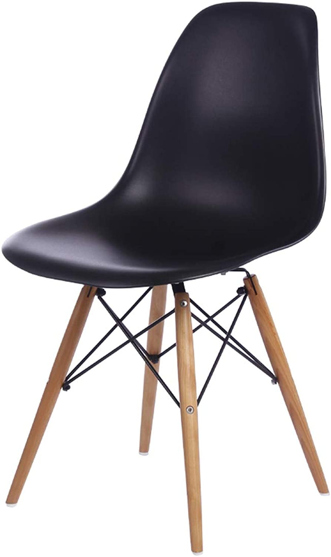LRW Adult Minimalist Chair Creative Dining Chair Modern Plastic BackChair, Dining Room Desk Chair, Black