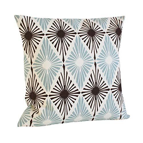 Lplpol Funda de almohada de lona para almohada, funda de almohada, almohada, almohada de sofá, funda de almohada, diseño de diamante azul pálido, 66 x 26 pulgadas, para sala de estar, sofá y cama