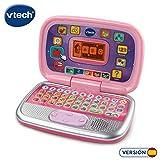 VTech Diverpink PC - Ordenador infantil educativo para aprender en casa, nseña diferentes materias a través de sus voces, frases y melodías, color rosa (80-196357)