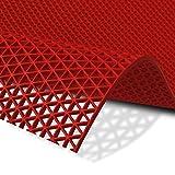 Hygienematte Z-Mat | viele Größen | stark rutschhemmend | für Nassbereiche und Arbeitsplätze | Rot - 120x100 cm