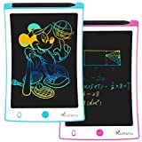KURATU 2pack LCD Writing Tablets 8.5inch Colorful Screen Electronic Drawing Board Kids Toys Writing Board & Drawing Tablet Doodle Board Writing Tablets, (Blue/Pink)