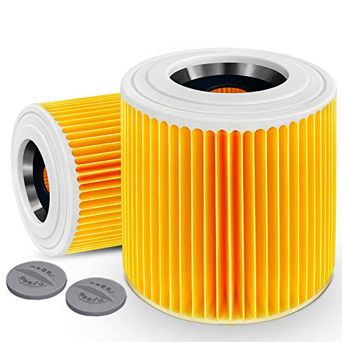 Alaskaprint 2xPatronenfilter Patronen Filter Staubsauger kompatibel mit Kärcher WD3 Premium WD2 WD3 WD 3 MV3 WD 3 P Extension KIT ersetzt 6.414-552.0, 6.414-772.0, 6.414-547.0