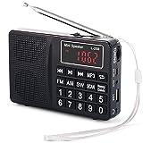 PRUNUS L-258 Radio da Cucina, Radiolina Portatile FM/AM(MW) SW, Pulsante Grande e Ampio Di...