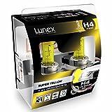LUNEX H4 SUPER YELLOW Ampoules Halogenes Phare Feu de brouillard Jaunes 472 12V 60/55W P43t 2300K duobox (2 pièces)