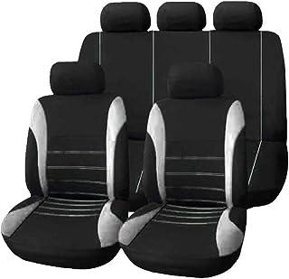 Coprisedili Anteriori Pelle Nera Logan MCV Versione 2007-2013 con Fori per i poggiatesta e bracciolo Laterale compatibili con sedili con airbag