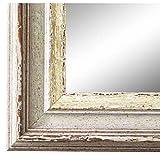Spiegel Wandspiegel Badspiegel Flurspiegel Garderobenspiegel - Über 200 Größen - Trento Beige Silber 5,4 - Außenmaß des Spiegels 24 x 30 - Wunschmaße auf Anfrage - Antik, Barock