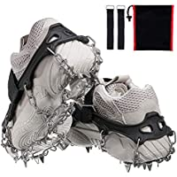 Audew 19 Spikes Crampons Ice Snow Grips Traction Cleats System Safe Protect