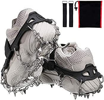 Audew 19 Spikes Crampons Ice Snow Grips Traction Cleats System