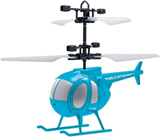 MINGLFIE Remote Control Helicopter, RC Flying Helicopter with Altitude Hold, One Key take Off/Landing, 3.5 Channel, LED Light for Indoor to Fly for Kids and Beginners (Sky Blue)