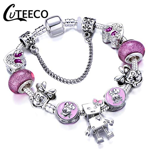 professionnel comparateur Bracelet à breloques MUATE en argent 925, bracelet toilette, perles de cristal, bracelet assorti, bracelet, bijoux… choix