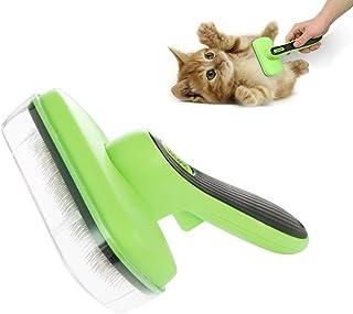 ペットブラシ 猫・犬・うさぎ用 スリッカー ブラシ ワンプッシュで抜け毛取り セルフクリーニング 長毛・短毛・ワイヤー・カーリー通用 ペットグルーミング お手入れくし
