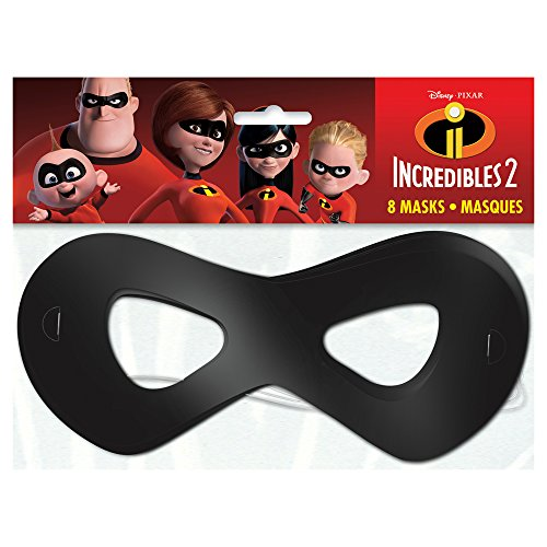 Unique The Incredible 2 Movie Party Masks, 1 Pack, Multi (79061)