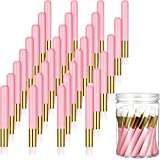 30 Pieces Lash Shampoo Brushes with Container, Nose Pore Deep Cleaning Brush Peel off Blackhead Removing Brush Tool Cosmetic Lash Cleanser Brush Facial Cleansing Brushes (Pink,4 Inch)