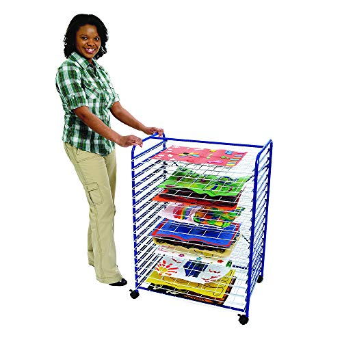 Colorations Mobile Art Drying Rack Sturdy Lightweight 36 1/2'H x 26 1/2'W x 17 1/2'D (Item # MOBRACK)