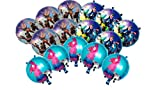 URBAN NIRVANA 15 Pc Video Game Foil Balloons Set with Air Blowing Straw | Video Gaming Theme Decorations Supply Kit for Adults, Teens, Boys, Girls and Kids
