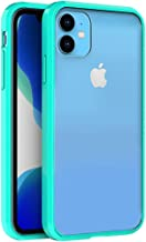 FINON Clear Perfect Body Model [ TPU Bumpers/PC ] for Apple iPhone 11 / XI Case with Hybrid Protective Clear and Impact Resistance - Mint Green