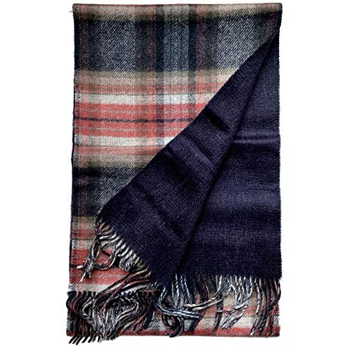 Heren Dames Viyella Ultieme Luxe Wol Cashmere Sjaal/Wrap Sjaal Tartan 228 Loden Groen