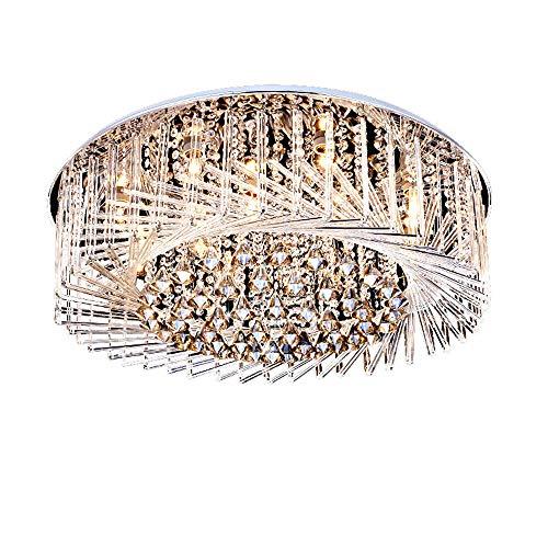 Modieuze LED woonkamer lamp, slaapkamer lamp dimbaar, creatieve vogelnest kristallen lamp, plafondlamp, wit licht (60 cm) Tricolor Light