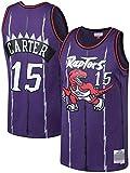 June Bart Camiseta de Baloncesto para Hombre,Mujeres Jersey Hombre - Toronto Raptors 15# Carter Jerseys Transpirable Bordado Baloncesto Swingman Jersey