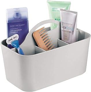 mDesign panier pour salle de bains avec poignée – organiseur de produits cosmétiques, boîte de rangement pour la cuisine o...