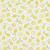 Baumwollpopeline Zitronen   PETIT CITRON – hellgelb —
