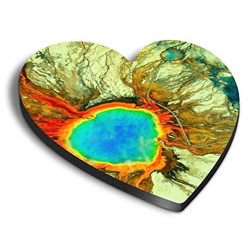 Destination Vinyl ltd Imanes de MDF con forma de corazón – Gran Primavera Prismática Yellowstone para Oficina, Gabinete y Pizarra Blanca, Pegatinas Magnéticas 16421