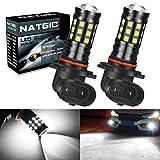 NATGIC H10 Ampoule Led Blanc Xenon 2700LM 6500K 3030 27SMD avec Projecteur d'objectif pour ampoules de feux...