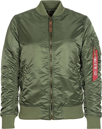 Alpha Industries Damen Bomberjacke MA-1 VF 59 Wmn, Grün (Sage Green 01), Large