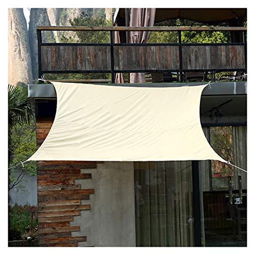 GuoWei Toldo Vela De Sombra, Acampar Al Aire Libre Protector Solar Resistente Al Agua Toldo, Balcón Terraza 95% Lona De Sombreado De Bloque UV, 17 Tamaño (Color : Beige, Size : 2x3m)
