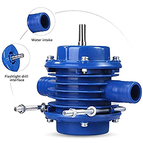 SALAKA Taladro Mano Bomba Agua 1PC Azul autocebante