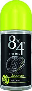 8X4 Discovery For Men Deodorant Roll On for Men, 50ml
