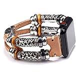 Bande di cuoio compatibili con orologio Apple 38mm 40mm 42mm 44mm Iwatch SE Serie 6 5 4 3 2 1, Braccialetti Accessori cinturino metallico cinturino,Beige,38/40mm