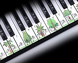 Piano Keyboard Stickers for 88/61/49/37 Key,Green Trees...