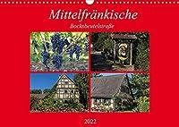 Mittelfraenkische Bocksbeutelstrasse (Wandkalender 2022 DIN A3 quer): Kleine Doerfer und guter Wein - das ist die Mittelfraenkische Bocksbeutelstrasse (Monatskalender, 14 Seiten )