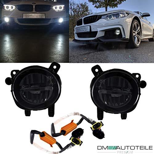 DM Autoteile Set LED Nebelscheinwerfer Smoke Schwarz passt für F20 F21 F30 F31 F32 F33 F36